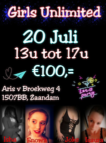 Gangbang Girls Unlimited Baccara club vrijdag 20 juli 2018